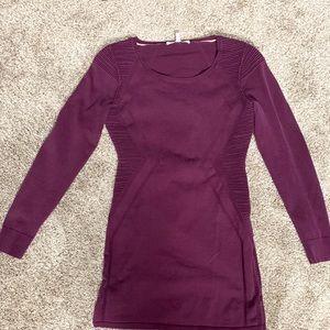 Victoria Secret purple/ wine bodycon mini dress